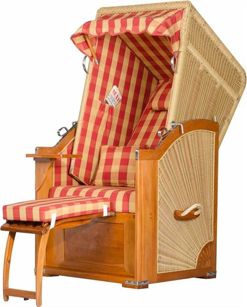 mr deko strandkorb seeblick solo karo rot coultique. Black Bedroom Furniture Sets. Home Design Ideas