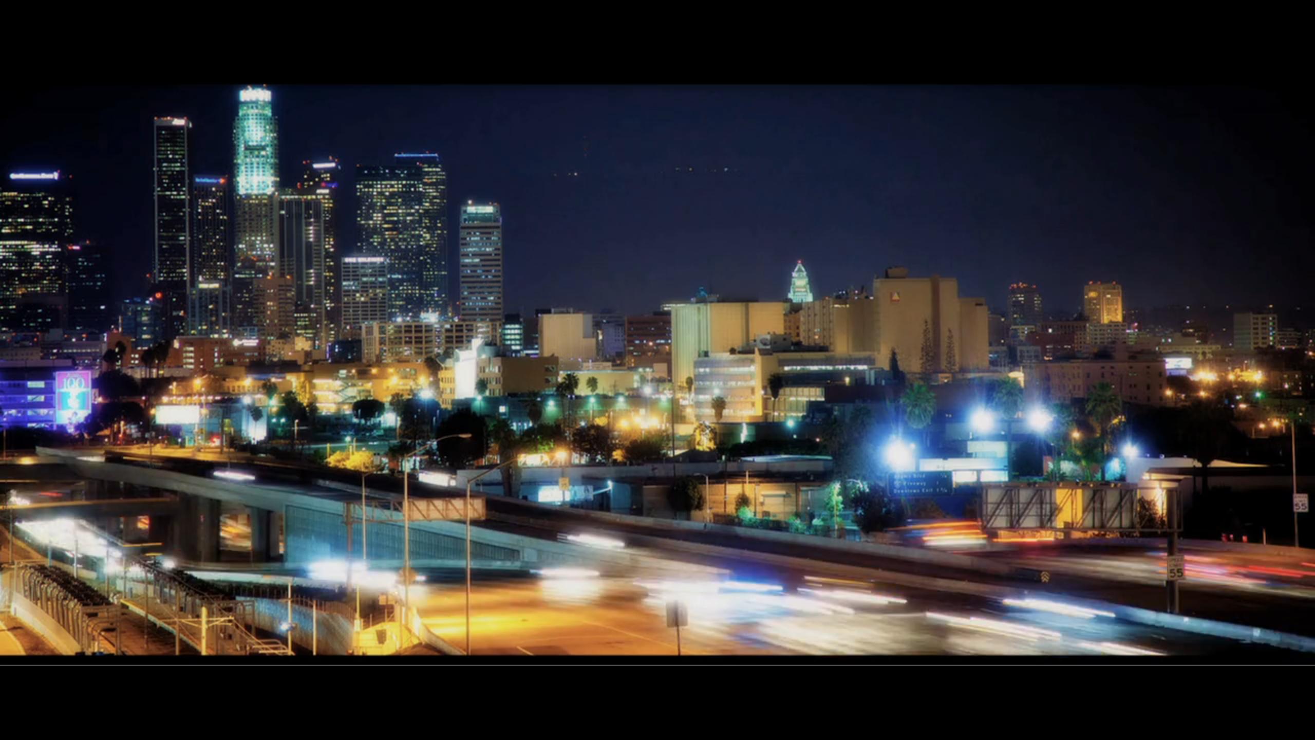 Die Stadt der Engel bei Nacht